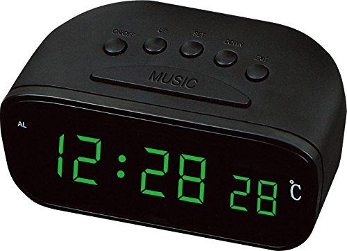 Stecken Sie die LED-UHR Digitaluhr LED Uhr Farbe Temperatur Blau Rot Licht grünes Licht , green