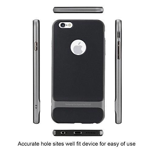 "Rock Coque anti-choc rigide ultra mince pour iPhone 6/6s 4,7pouces, plastique, For iPhone 6/6s_Red, iPhone 6/6s_4.7"" gris"