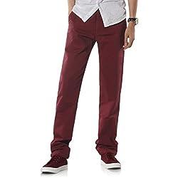 Demon&Hunter 900X Clásico-Fit Seires Hombre Chinos Pantalones DH9005(32)