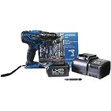 Hyundai HYBT0190 Taladro Atornillador, 18 V, Negro y Azul (cargador y batería incluidos