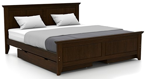 Urban Ladder Somerset King Size Bed with Storage (Dark Walnut)