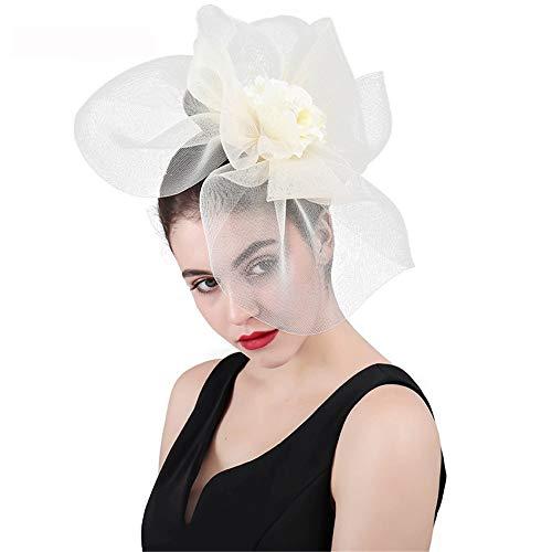 SweetStyle Zylinderhut Jockey Club übertrieben Top Hut Blume Haarschmuck Pop Bankett Western Dress Headwear