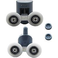 8pcs Doppia doccia porta rulli/Runners/Ruote diametro ruota superiore o inferiore 23mm