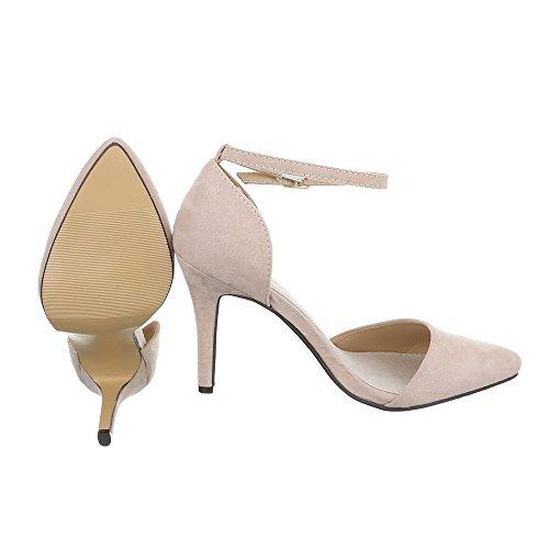 Ital-Design , chaussures compensées femme Beige SY02P-2