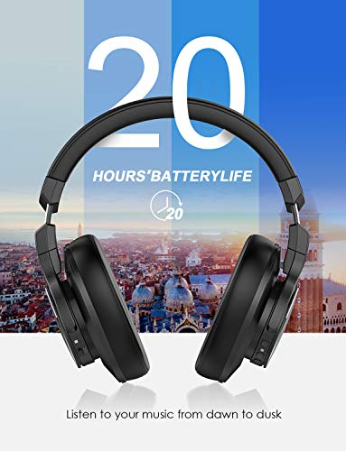 Mixcder E8 Aktive Geräuschunterdrückung Bluetooth Kopfhörer mit Mikrofon Active Noise Cancelling Kopfhörer Drahtloser Über-Ohr-Kopfhörer mit Stereoton,Faltbar, Kabelloses Headset mit Tiefem Bass - 4