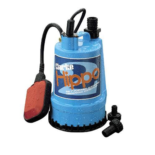 CLARKE HIPPO SUBMERSIBLE WATER PUMP 230V 85 LTR/MIN FLOAT SWITCH by Clarke International