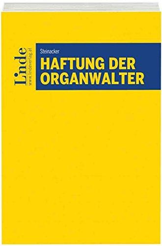 Haftung der Organwalter
