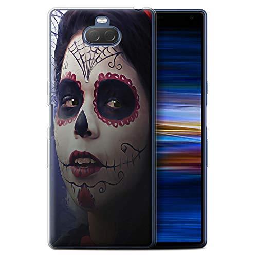 Stuff4® Gel TPU Hülle/Case für Sony Xperia 10 Plus 2019 / Halloween Bilden Muster/Tag Der Toten Festival Kollektion (Tag Toten Halloween-2019 Der)