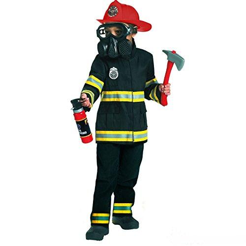 Morph Kinder Feuerwehrmann Kostüm Notfalldienste Jungen Feuerwehrmann Kinder Uniform Kleidung - Small (Alter ()