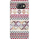 Coque Samsung Galaxy A3 (2016) rigide motif Bandana indigène aztec rouge de protection et personnalisation - Mobilinnov