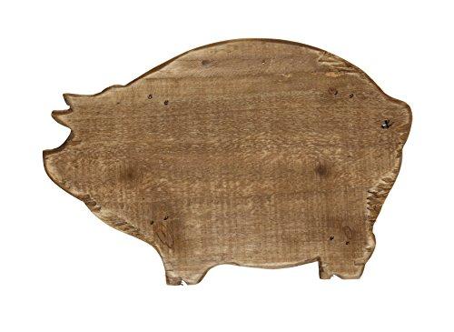 Pig Shaped Cutting Board (Creative Co-Op Wood Pig Shaped Pedestal, Brown)