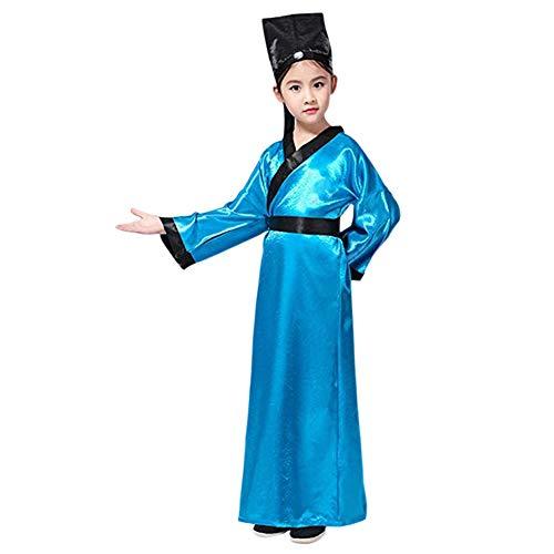 Haodasi Chinesisch Uralt Hanfu - Konfuzius Traditionell Kostüm Performance Graduierung Cosplay für Kinder