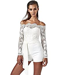 c4e8f509af68 Amazon.co.uk  White - Jumpsuits   Playsuits   Women  Clothing