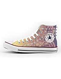 6ae911214302 Converse All Star High Printed and Studded - handmade shoes - Italian Brand  - Roses