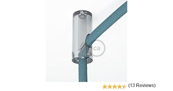 Decentratore Per Lampadari.Creative Cables Dcs01tra Decentratore Gancio A Soffitto Per Cavo Elettrico Tessile Con Fermo