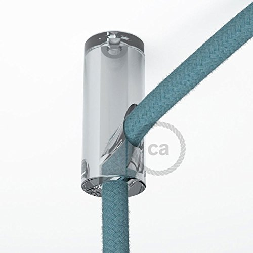 Creative-Cables DCS01TRA Decentratore, Gancio a Soffitto per Cavo Elettrico Tessile con Fermo
