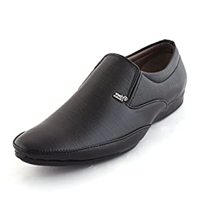 ALESTINO Formal Shoes For Men Leather Formal Shoes FF26 Black