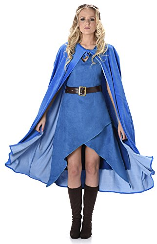 Für Of Thrones Erwachsenen Queen Kostüm - Warrior Queen Cersei Damen Fancy Dress Mittelalterliches Spiel der Thrones Womens Kostüm