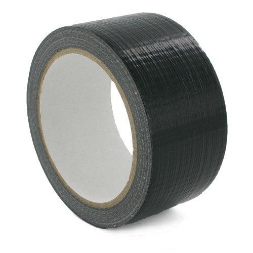 1Rolle Gaffer Klebeband schwarz 48mm x 50m Gaffa Ente Verpackung Tuch Buchbindung, schwarz