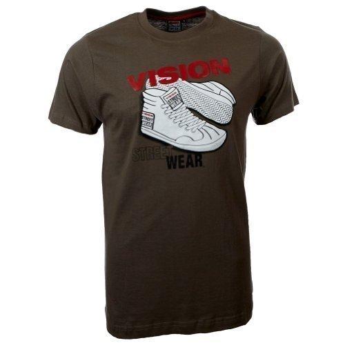 Vision Street Wear Sneaker T-Shirt , army green (T-shirt Tee Army Green)
