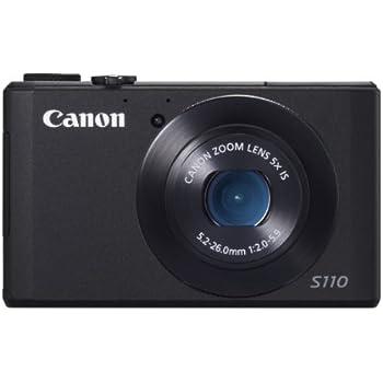 Canon PowerShot S110 Digitale Kompaktkamera (12,1 Megapixel, 5-fach opt. Zoom, 7,6 cm (3 Zoll) Display, Full HD, HDMI) schwarz