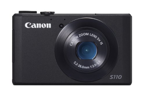 Canon PowerShot S110 Fotocamera Compatta Digitale, 12.1 Megapixel, Processore DIGIC 5, Nero