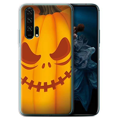 eSwish Gel TPU Hülle/Case für Huawei Honor 20 Pro/Unheimlich Muster/Halloween Kürbis Kollektion