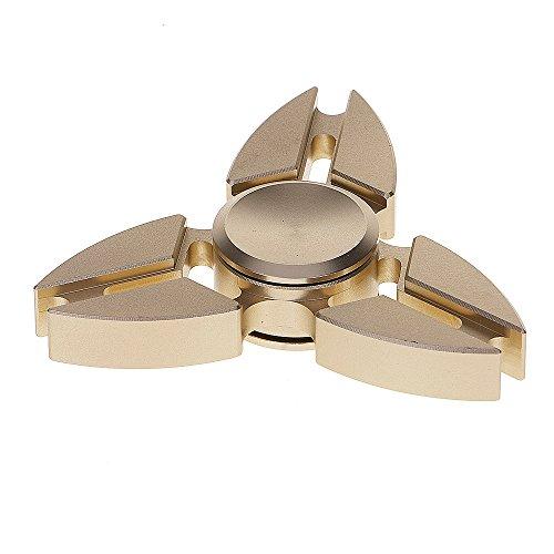 Preisvergleich Produktbild HuntGold Dreifach Klaue Kupfer ADHS Angst Autismus Entspannung Fidget Hand Tri Spinner Gold