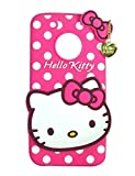 Qzey Nice Kitty Back Cover for Motorola Moto G5 Plus - Pink
