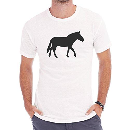 Horse Animal Pony Stud Donkey Herren T-Shirt Weiß
