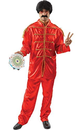 Ringo Kostüm Starr - Lonely Hearts Band Costume - Red