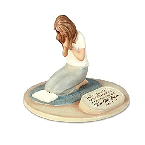Lighthouse Christian Products Devoted Praying Woman Sculpture, 6 x 6 x 5