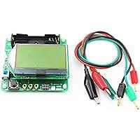 PPITVEQ Multifuncional Tester probador de transistores MG328 diodo de Capacidad inductancia y capacitancia Metros ESR Bricolaje Transistor Tester