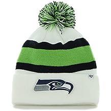 """Seattle Seahawks 47 Brand NFL """"Breakaway"""" Cuffed Knit Hat - White"""