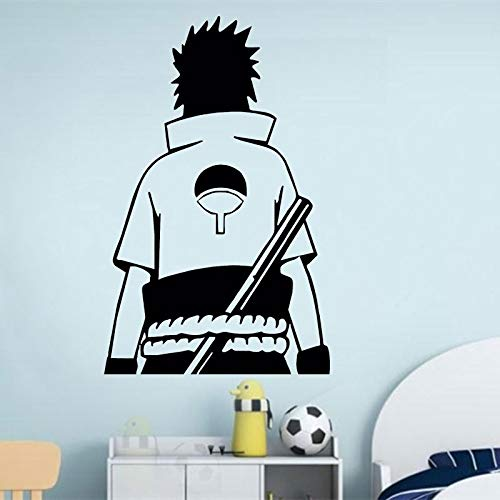yaoxingfu Uchiha Sasuke (Rückseite) Vinyl Wandaufkleber, Zuhause Wohnzimmer Dekoration Junge Zimmer Mode Dekoration gelb 57x90cm