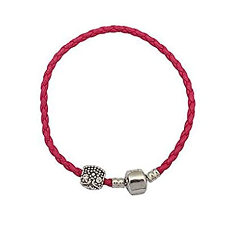 GYJUN European And American Fashion Contracted Hemp Rope Beads Bracelet , ruby
