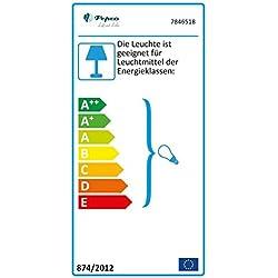 Ventilateur de plafond Réversible Pepeo Kisa Blanc 105 cm avec Eclairage, Pales Blanc et Erable