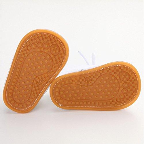 Lalang Bottes de Neige Bébé Fille Garçon Bottines Chaussures Premiers Pas Chaud Hiver Chaussons,0-18 mois Blanc