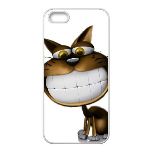 3d white teeth cat wallpaper For SamSung Galaxy Note 3 Phone Case Cover White