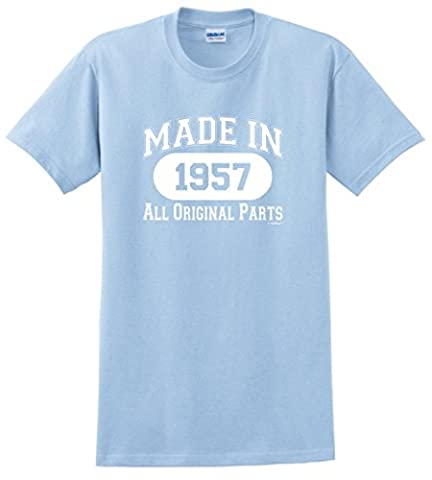 60th Birthday Gifts Made 1957 All Original Parts T-Shirt XX-Large