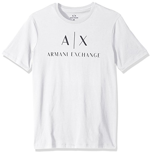 Armani Exchange Herren 8NZTCJ T-Shirt, Weiß (White 1100), Small