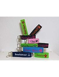 Schlüsselanhänger mit Name oder Spruch - individuell bestickt - Filzanhänger- Geschenk - Glücksbringer - Weihnachtsgeschenk