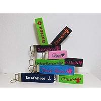 Schlüsselanhänger mit Name oder Spruch personalisiert - individuell bestickt - Filzanhänger- Geschenk - Glücksbringer - Vatertag