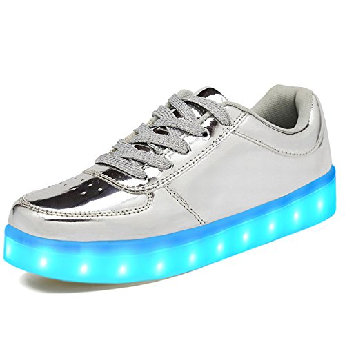 LeKuni LED Shoes Upgraded Light Up System Low Top Trainner For (Light Womens Up Schuhe)