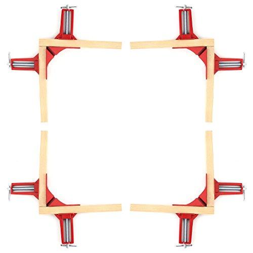 90-Grad Winkelzwinge - SODIAL(R)4X 75mm Winkelzwinge Winkelspanner Schraubzwinge Rot