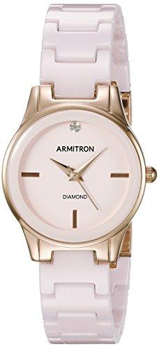 armitron-75-de-la-mujer-5348vhrg-diamond-accented-rose-gold-tone-y-luz-rosa-de-cermica-reloj-de-puls