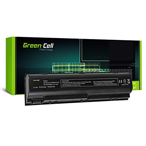 Green Cell HSTNN-DB17 HSTNN-IB09 HSTNN-OB17 Laptop Akku für HP G3000 G5000 Pavilion DV1000 DV4000 DV5000 (6 Zellen 4400mAh 10.8V Schwarz) -
