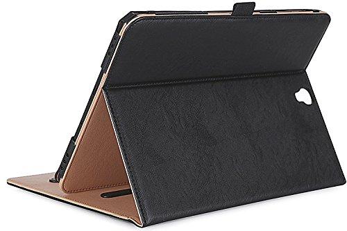 ProCase Klappen Schutzhülle für Galaxy Tab S3 Tablet, Stand Folio Case Cover für Galaxy Tab S3 Tablet (9,7 Zoll, SM-T820 T825), mit Mehreren Betrachtungswinkeln, Dokumentenkarte Tasche -Schwarz (Galaxy Samsung Film S3 Case)