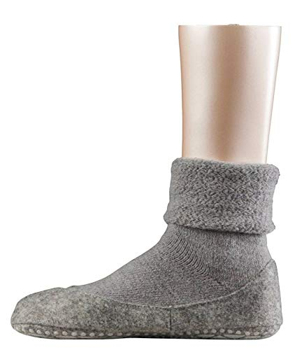 FALKE Damen Stoppersocken Cosyshoe,Grau (light grey), 39/40 EU
