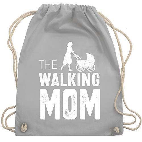 (Muttertag - The Walking Mom weiß - Unisize - Hellgrau - WM110 - Turnbeutel & Gym Bag)